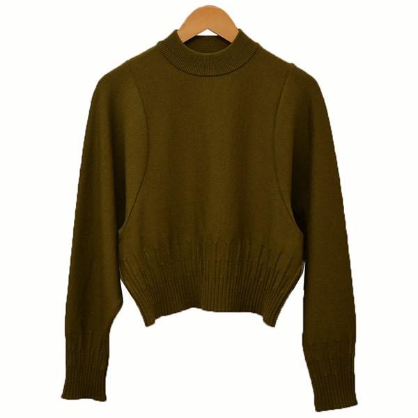 【中古】TAN 2018AW PARTIAR GARTER PO ニット セーター カーキ サイズ:Free 【110320】(タン)