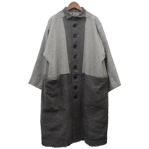 【中古】Omar Afridi 2020SS Atelier Coat アトリエコート グレー サイズ:L 【110320】(オマール アフリディ)