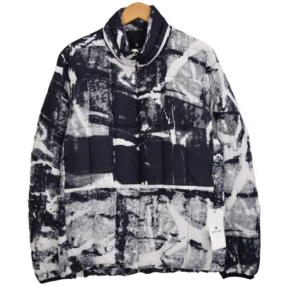 【中古】snow peak RYP Middle Down Jacket ダウンジャケット ヤマイリュウスケ デザイン WHITE PT(ホワイト×ブラック) サイズ:JAPAN M 【110320】(スノーピーク)