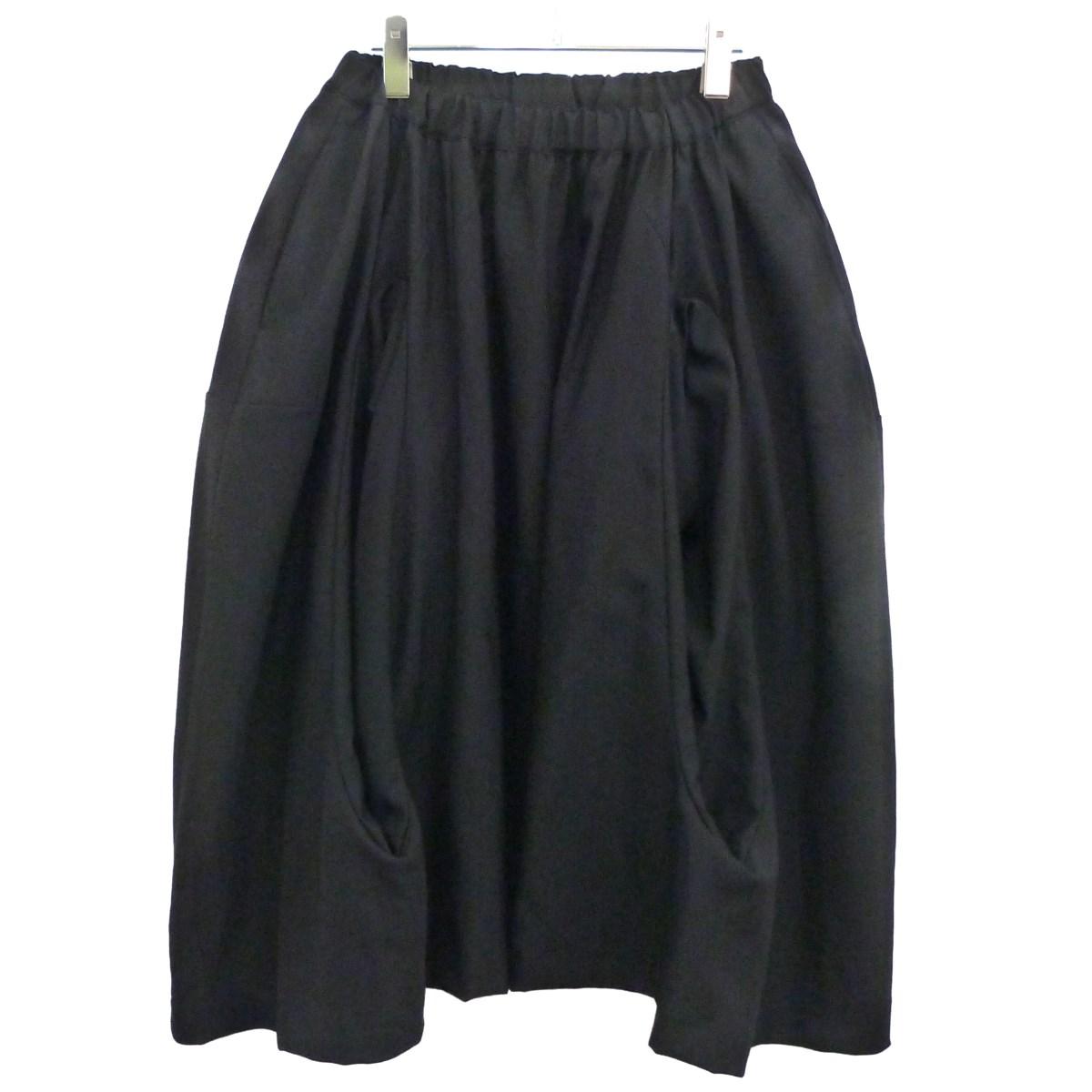 【中古】COMME des GARCONS COMME des GARCONS 18AWカシミヤ混立体変形ボリュームスカート ブラック サイズ:XS 【120320】(コムデギャルソンコムデギャルソン)