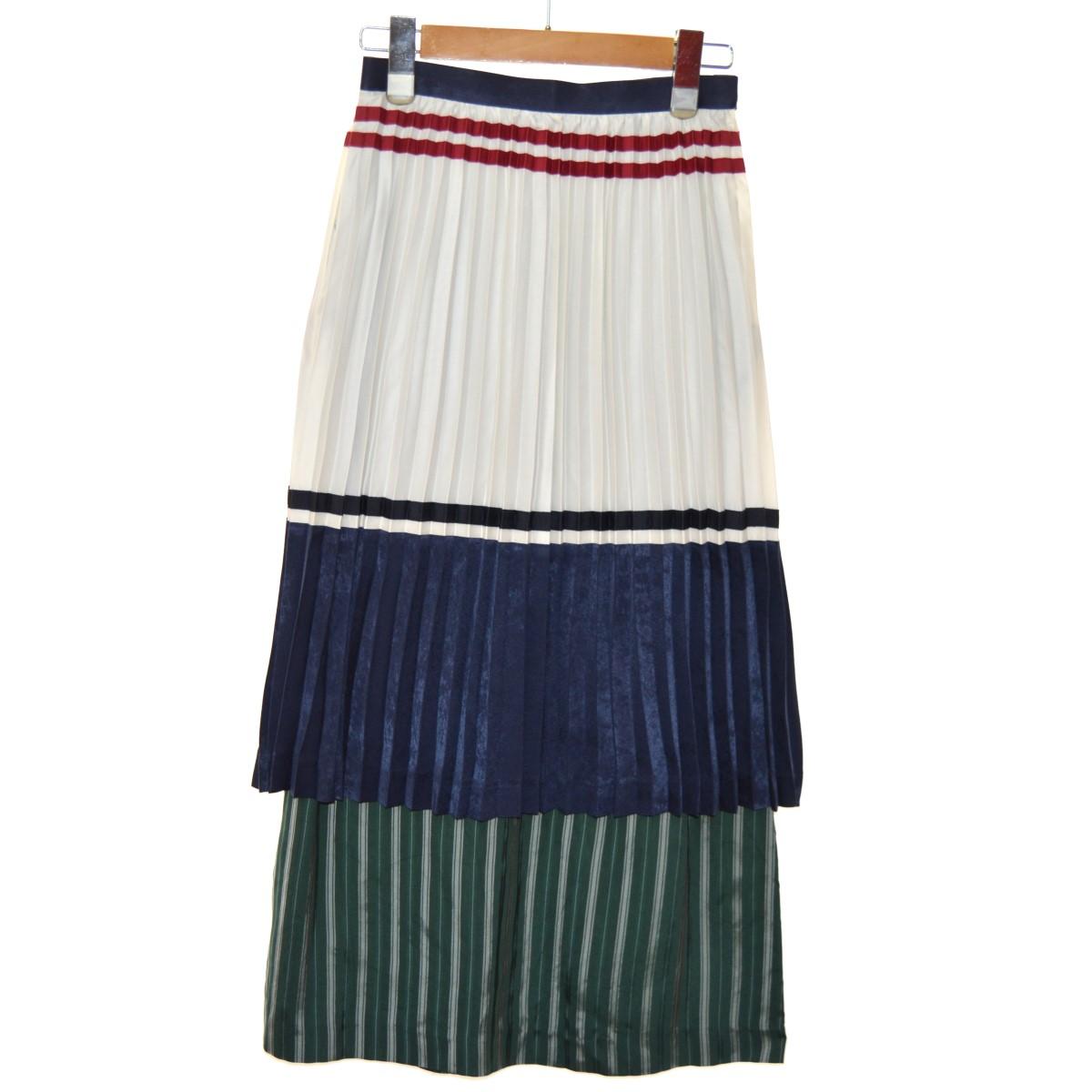 【中古】CLEANA プリーツレイヤードスカート マルチカラー サイズ:1 【130320】(クリーナ)