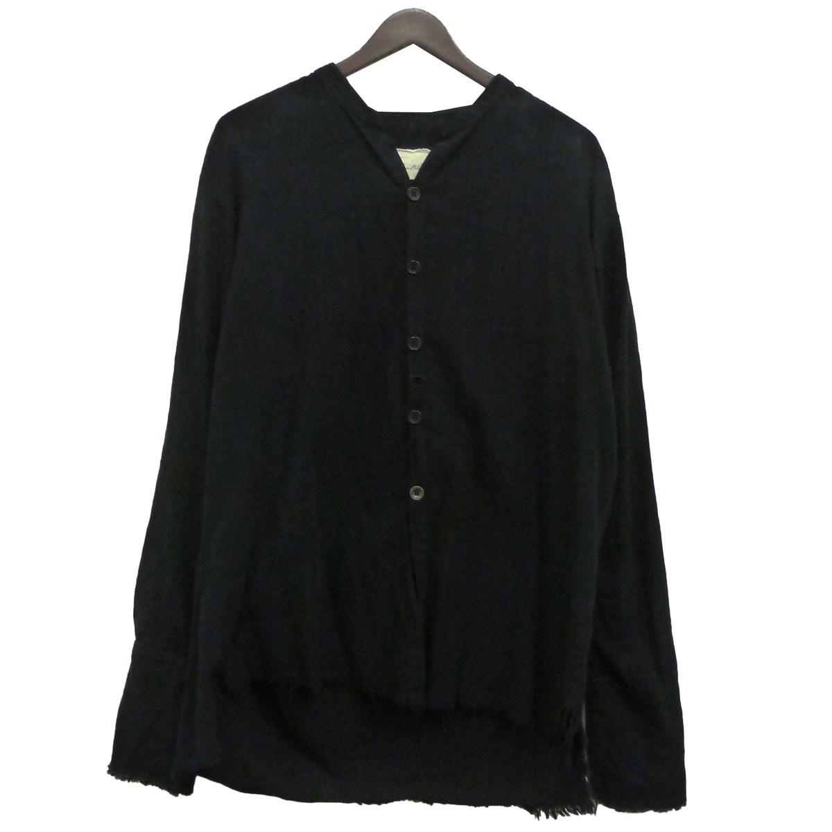 【中古】GREG LAUREN 「THE FLANNEL STUDIO SHIRT」フランネルシャツ ブラック サイズ:4 【120320】(グレッグローレン)