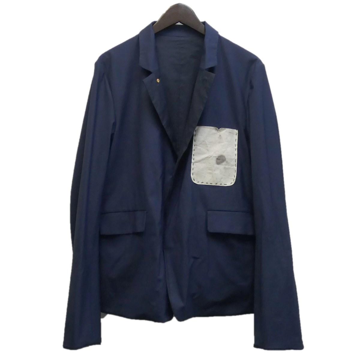 【中古】SUNSEA 16SS 「Reversible SNM-G-Jacket」 スーパーナイスマテリアルジャケット ネイビー サイズ:3 【120320】(サンシー)
