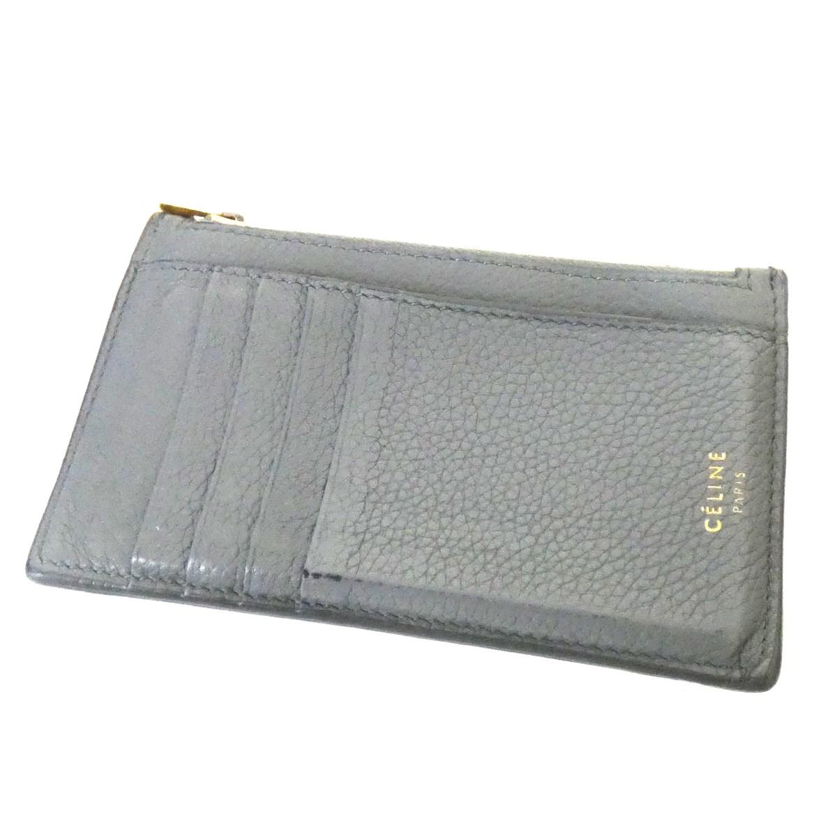 【中古】CELINE 「Compact Card Holder」F-PG-211B コンパクトジップカードケース グレー サイズ:- 【120320】(セリーヌ)