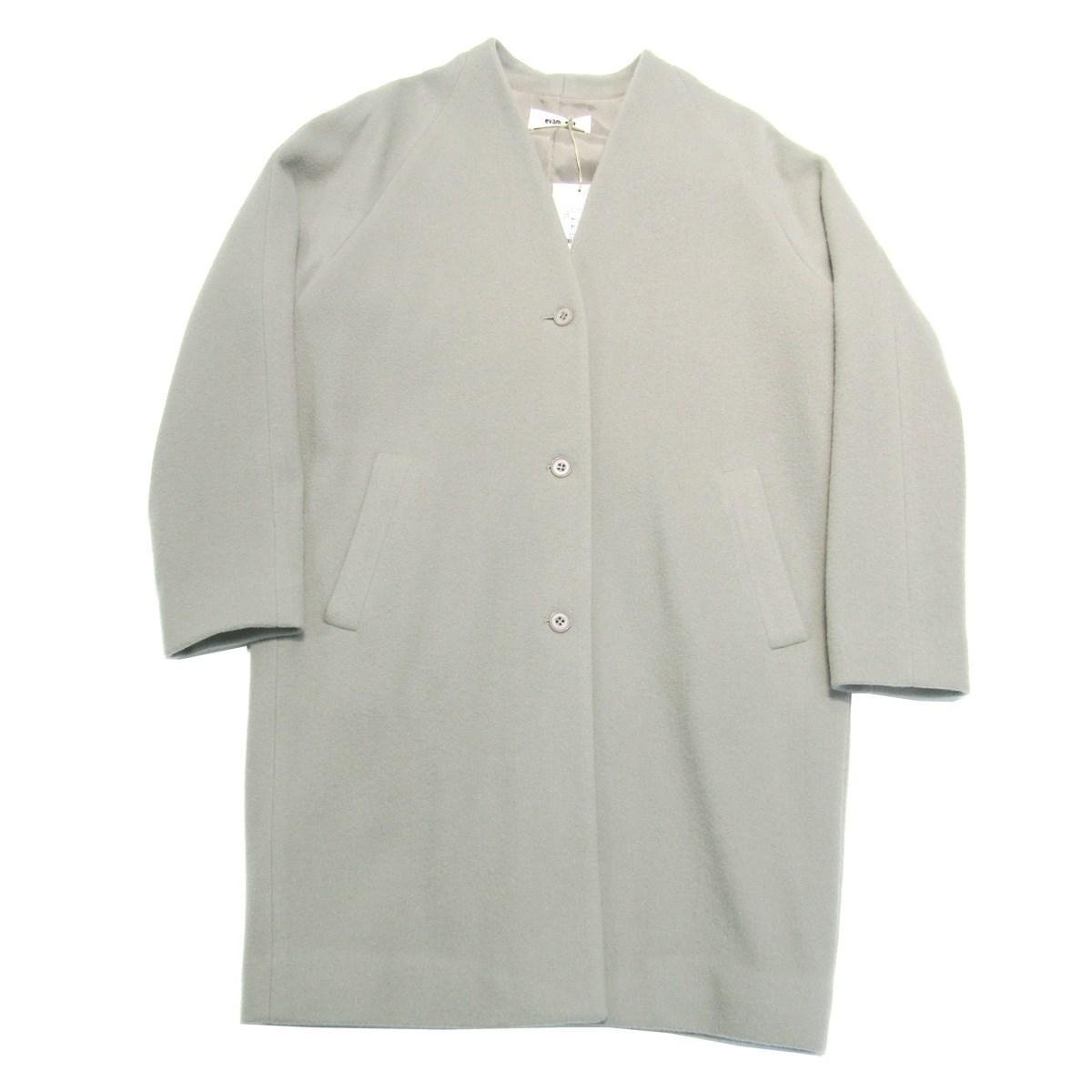 【中古】evam eva Wool Velor Cocoon Coat ノーカラーウールコート ベージュ サイズ:1 【120320】(エヴァムエヴァ)