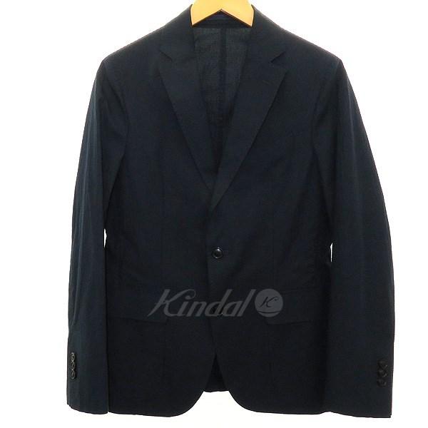 【中古】Casely-Hayford シアサッカージャケット ネイビー サイズ:36 【130320】(ケイスリーヘイフォード)