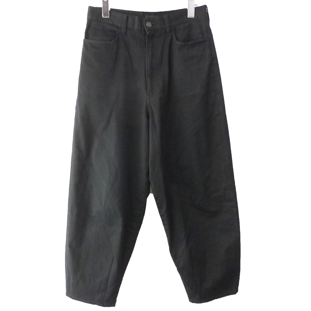 【中古】LAD MUSICIAN 19AW「Tapered Wide Pants」テーパードワイドパンツ ブラック サイズ:42 【130320】(ラッドミュージシャン)