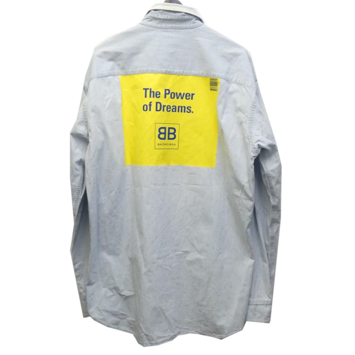 【中古】BALENCIAGA 18SS「The Power of Dreams BB Denim Shirt」509531 シャツ インディゴ サイズ:38 【130320】(バレンシアガ)