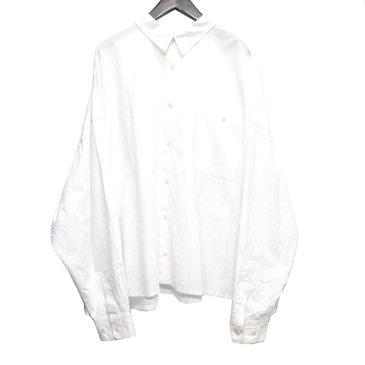 【中古】whowhat 「5XL shirts」 ビッグシルエットシャツ ホワイト サイズ:Free 【130320】(フーワット)