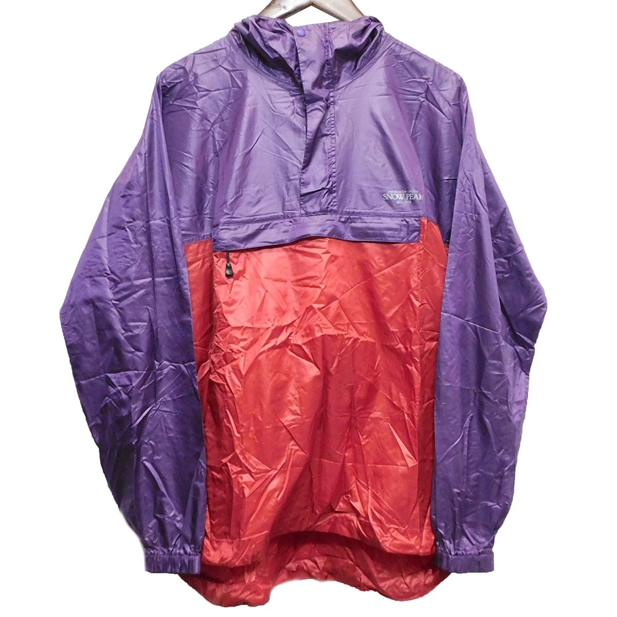 【中古】Snowpeakナイロンジャケット レッド×パープル サイズ:M 【5月11日見直し】