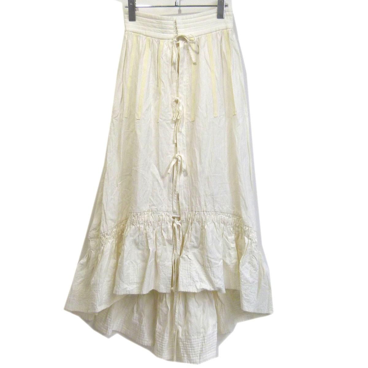【中古】IRENE 17AW リンクルコットンペティコートスカート ホワイト サイズ:34 【130320】(アイレネ)