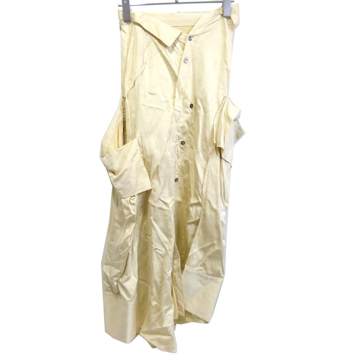 【中古】IRENE 19SS「The shirt pressed Skirt」 シャツスカート イエロー サイズ:36 【130320】(アイレネ)