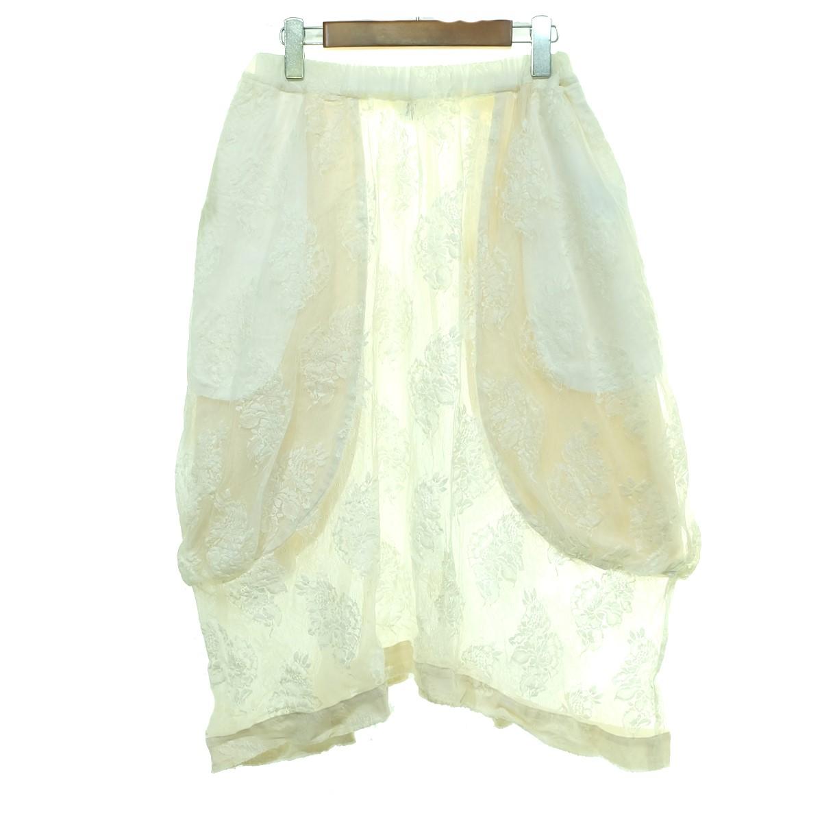 【中古】COMME des GARCONS 17SS レーススカート ホワイト サイズ:S 【140320】(コムデギャルソン)