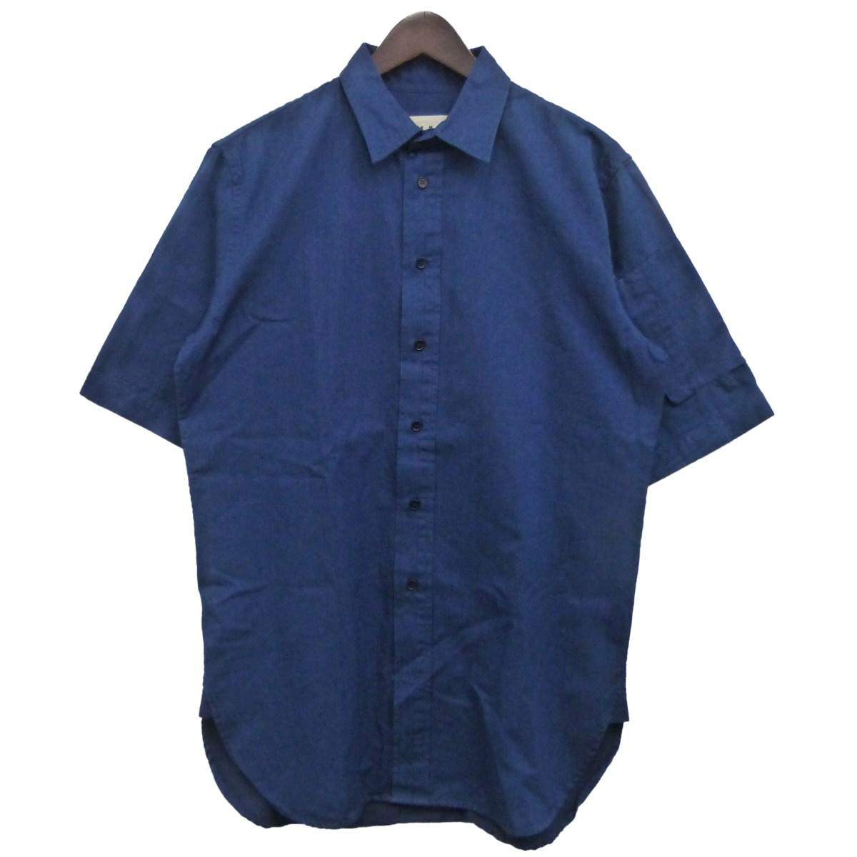 【中古】MARNI 袖ポケット半袖シャツ ブルー サイズ:44 【140320】(マルニ)