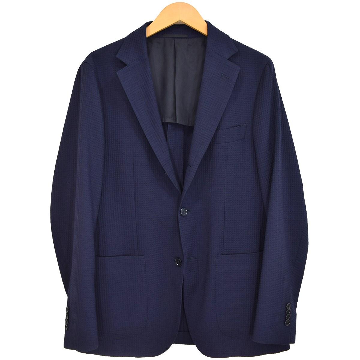 【中古】UNITED ARROWS UADTワッフルソリッドライトコンフォート 2Bジャケット ネイビー サイズ:48 【140320】(ユナイテッドアローズ)