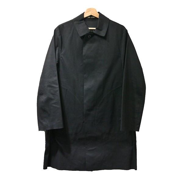 【中古】mackintosh ゴム引きステンカラーコート ブラック サイズ:38 【140320】(マッキントッシュ)