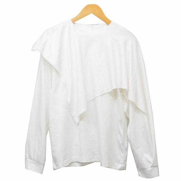 【中古】RIM.ARK 2020SS Layered cut tops レイヤード ロンT Tシャツ ホワイト サイズ:Free 【140320】(リムアーク)