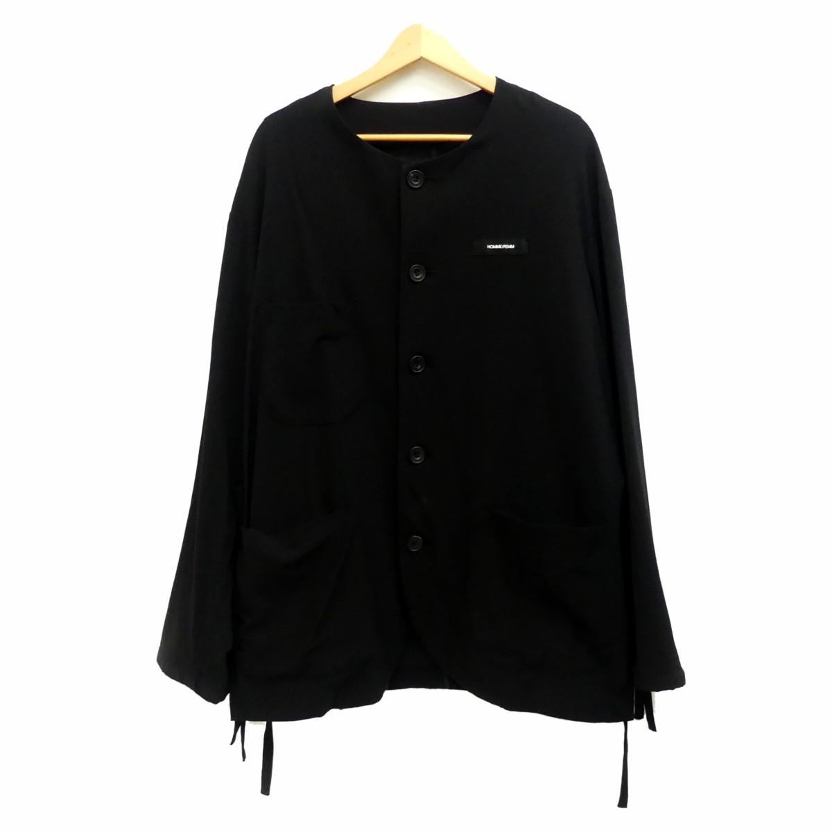 【中古】SYU HOMME19SS ノーカラージャケット ブラック サイズ:1 【5月14日見直し】