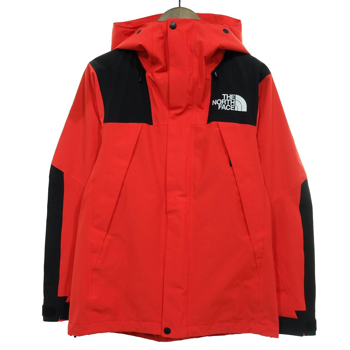 【中古】THE NORTH FACE Mountain Jacket マウンテンジャケット レッド×ブラック サイズ:XS 【150320】(ザノースフェイス)