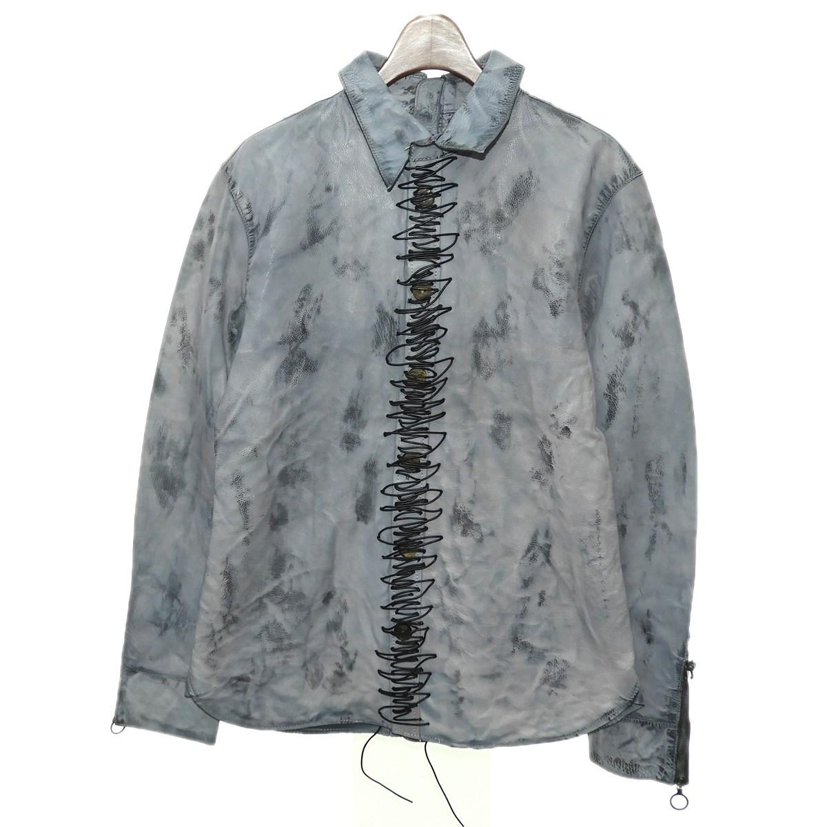 【中古】ANTINOISE レザージャケット グレー サイズ:M 【160320】(アンチノイズ)