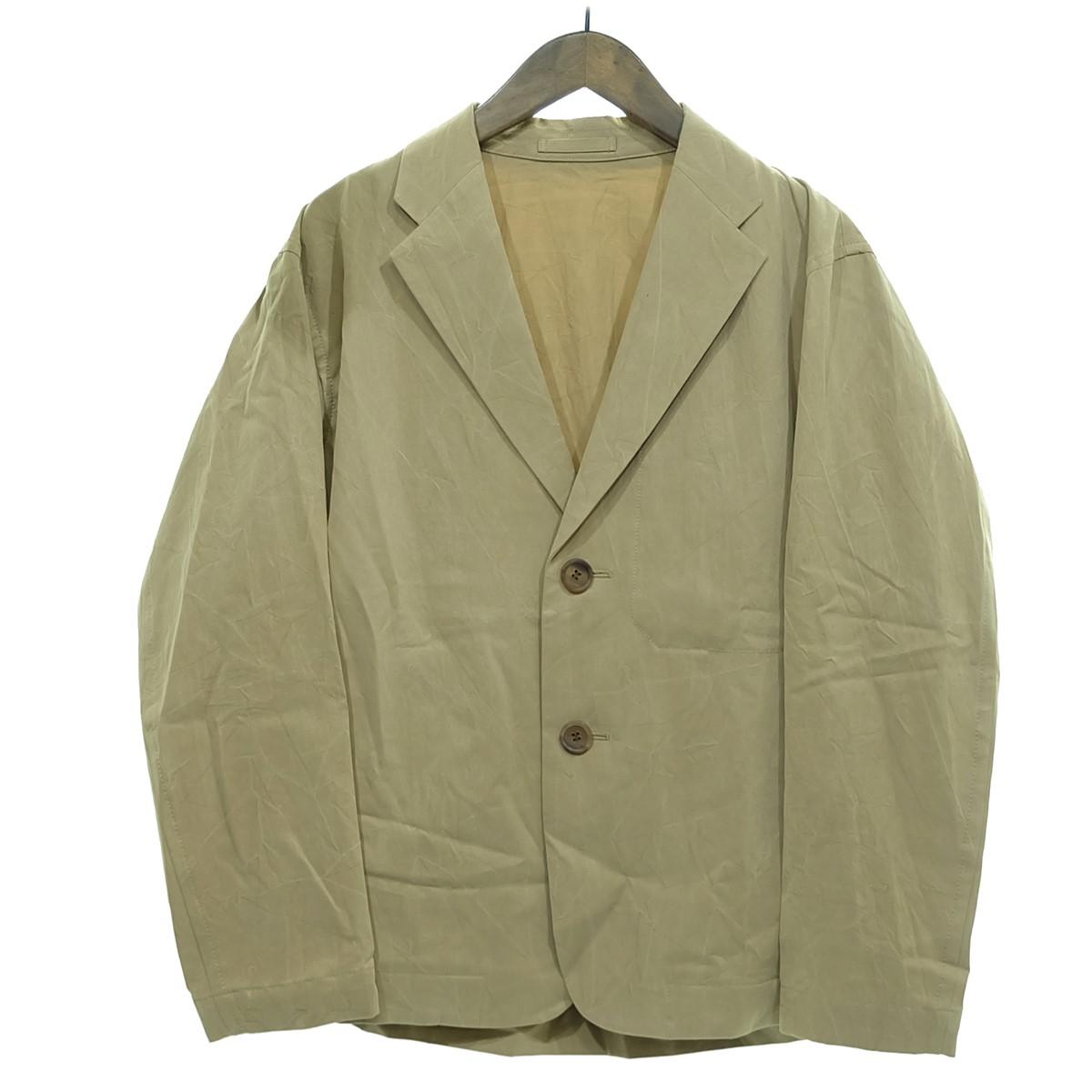 【中古】ISSEY MIYAKE MEN 【2020S/S】2Bテーラードジャケット ベージュ サイズ:1 【160320】(イッセイミヤケ)