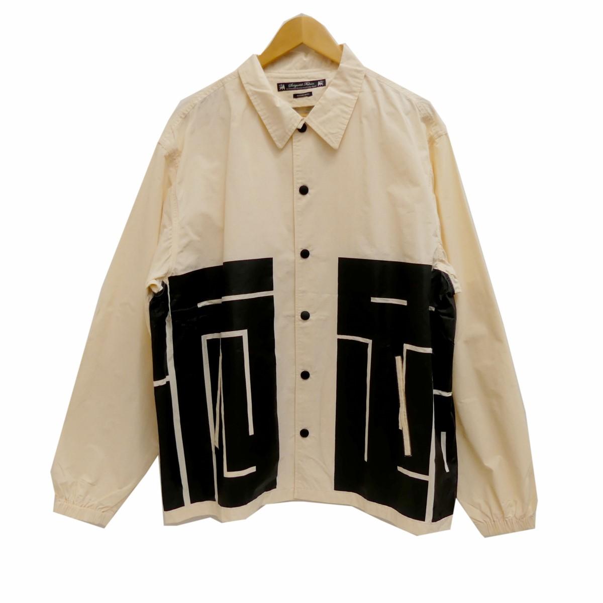 【中古】SASQUATCHfabrix.15SS HANTEN COACH JKT コーチジャケット オフホワイト サイズ:L 【5月14日見直し】