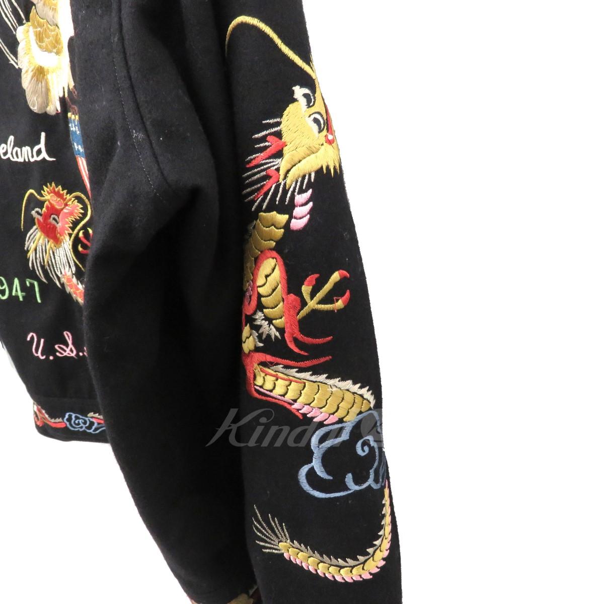 東洋エンタープライズ SUKA WOOL JACKETEAGLE DRAGON ジャケット スカジャン TT11455 ブラック サイズ 中160320東洋エンタープライズy0NOm8nvwP