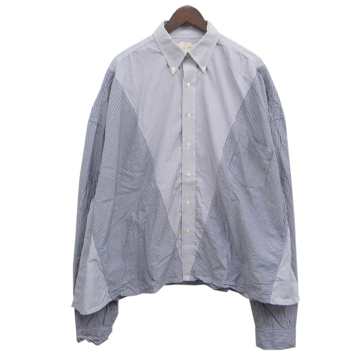 【中古】77circa リメイクストライプシャツ ブルー サイズ:F 【160320】(ナナナナサーカ)