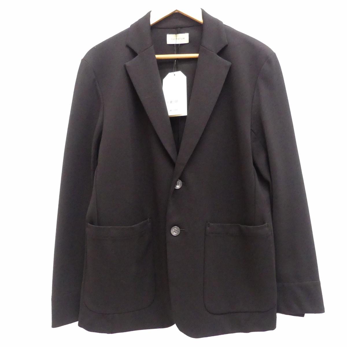 【中古】FACTOTUMカットジャージ2Bジャケット テーラードジャケット ブラック サイズ:S 【5月14日見直し】