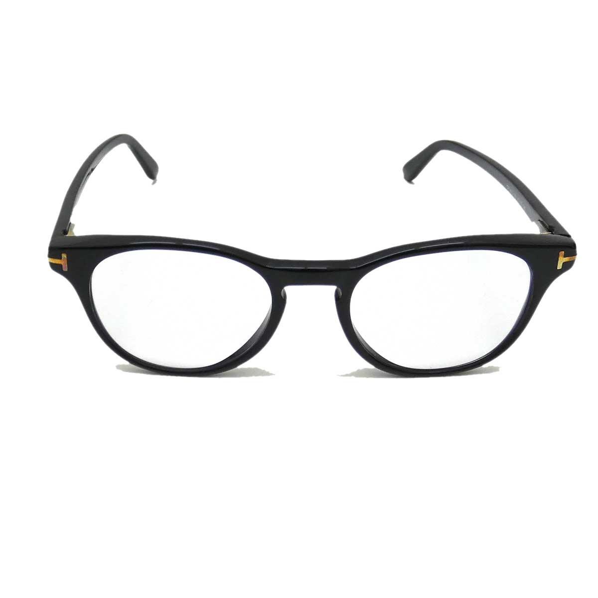 【中古】TOM FORD TF5410 セルフレームメガネ ブラック(SHINY BLACK) 【170320】(トムフォード)