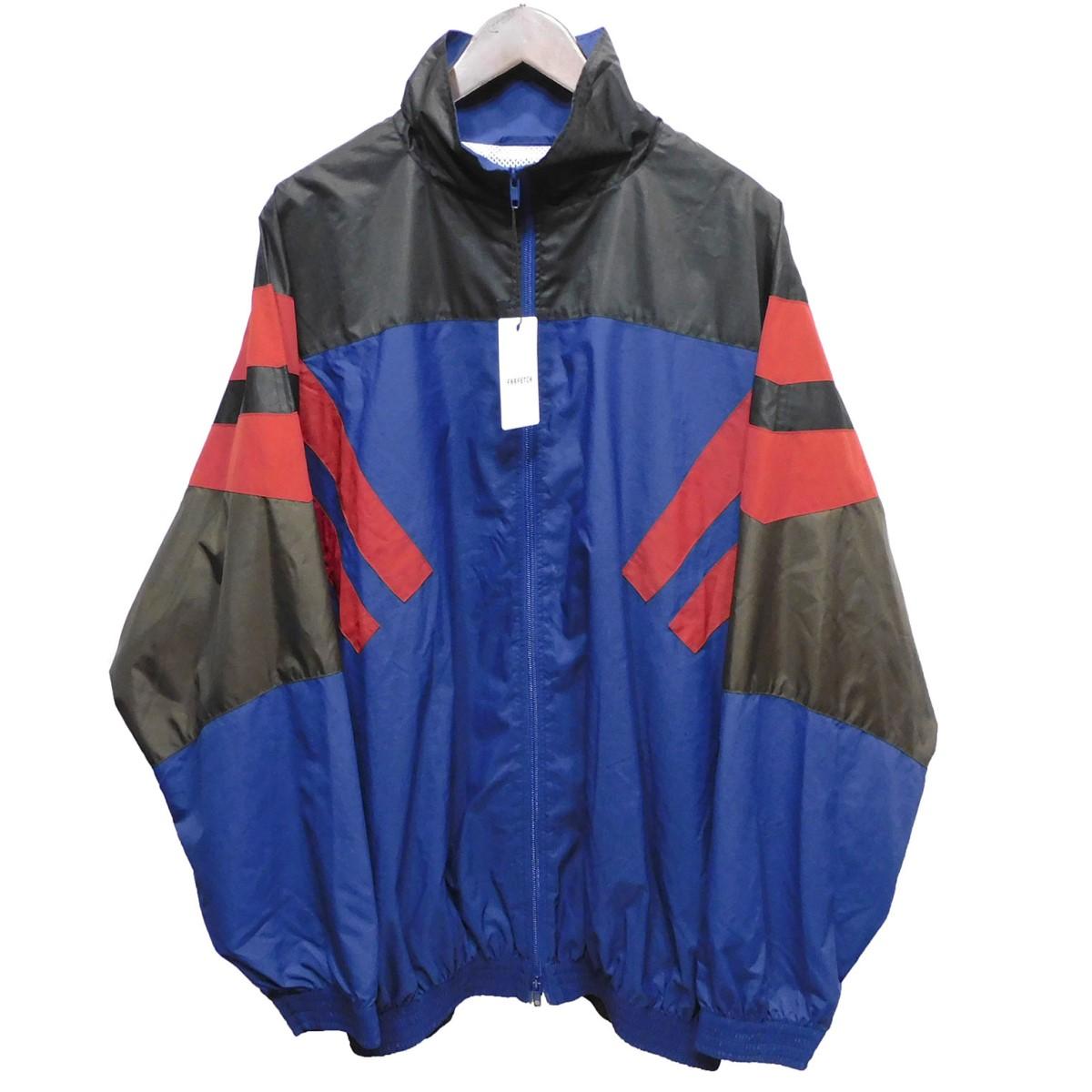 【中古】BALENCIAGA 18SS ナイロンジャケット ネイビー×ブラック サイズ:44 【160320】(バレンシアガ)