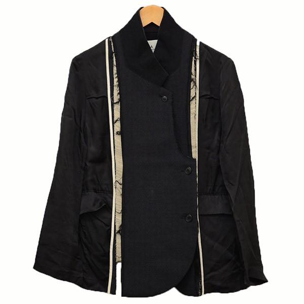 【中古】TOGA ドッキングシースルージャケット 変形ジャケット ネイビー サイズ:M 【170320】(トーガ)