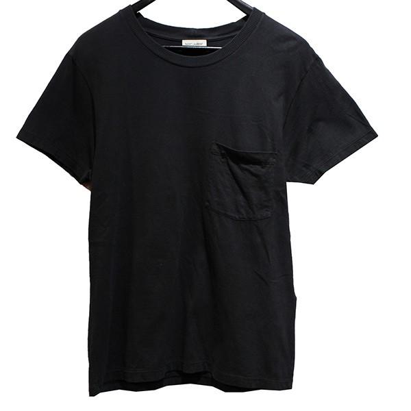【中古】SAINT LAURENT PARIS カサンドラロゴポケットTシャツ ティーシャツ ロゴTシャツ グレー サイズ:XS 【170320】(サンローランパリ)
