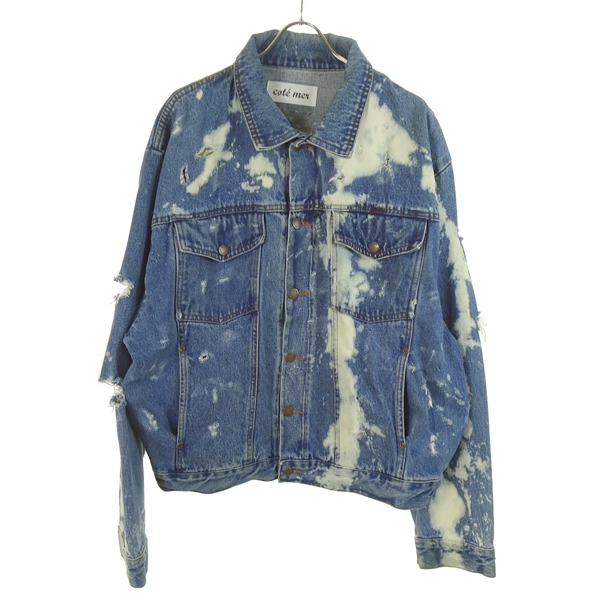 【中古】COTE MER 加工デニムジャケット ブルー サイズ:- 【180320】(コートメール)