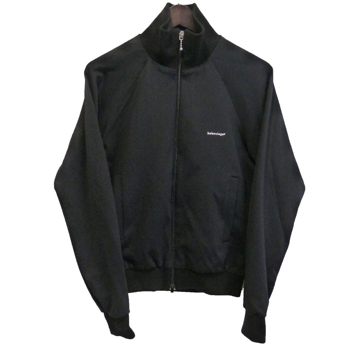【中古】BALENCIAGA トラックジャケット ブラック サイズ:34 【180320】(バレンシアガ)
