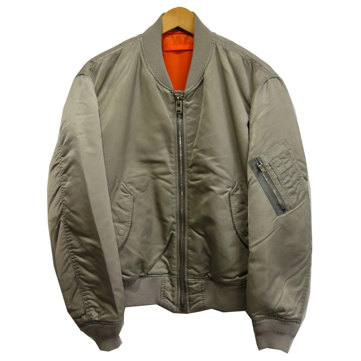 【中古】6(ROKU) BEAUTY&YOUTH 「NYLON MA-1 JACKET」 ナイロンMA-1ジャケット ライトグレー サイズ:36 【180320】(ロク ビューティーアンドユース)