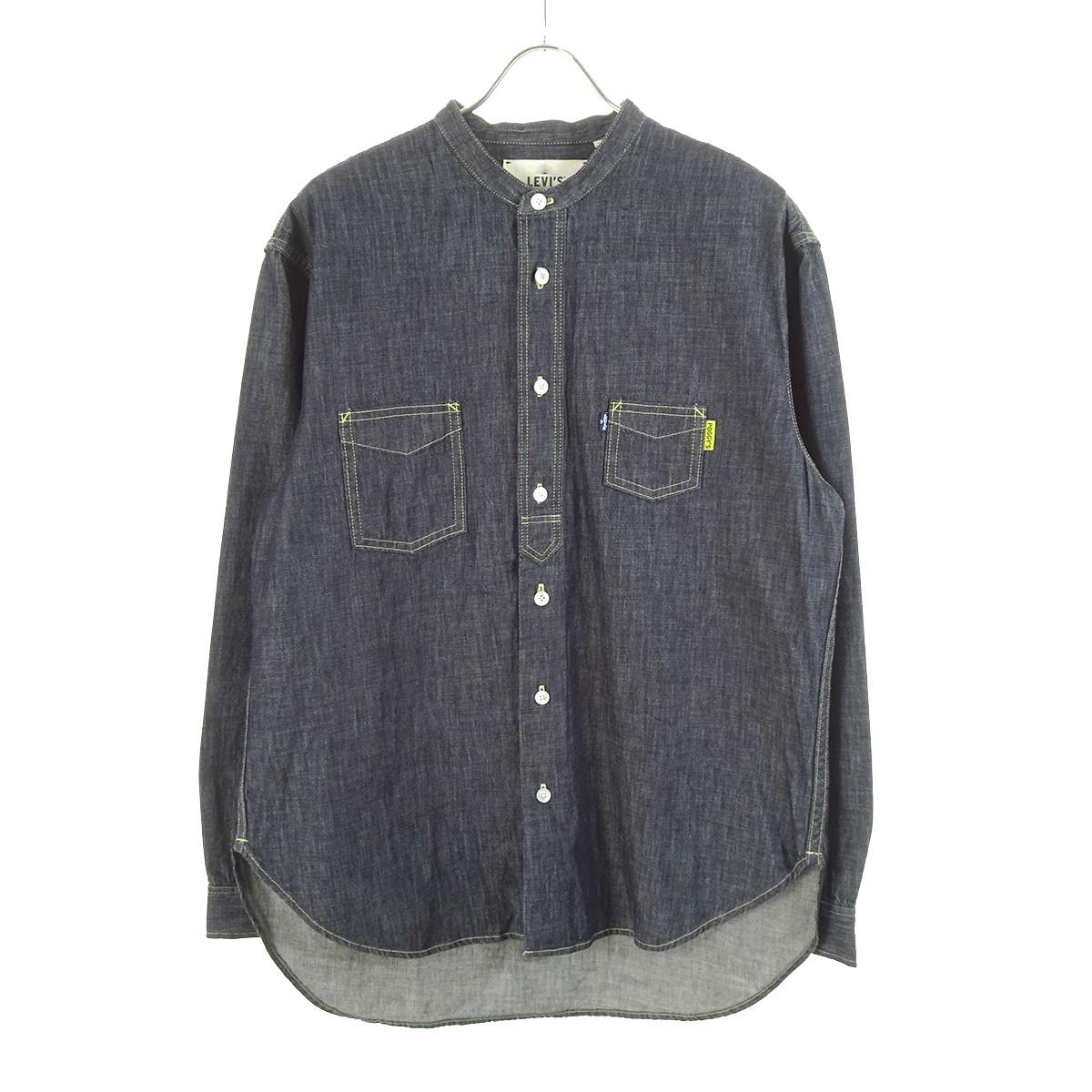 【中古】LEVI'S MADE&CRAFTED×POGGY デニムシャツ インディゴ サイズ:S 【180320】(リーバイス メイド アンド クラフテッド×ポギー)
