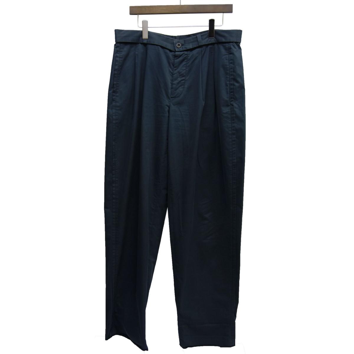 【中古】JIL SANDER 2タックパンツ ネイビー サイズ:52 【180320】(ジルサンダー)