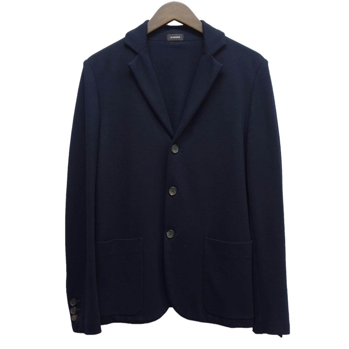 【中古】JIL SANDERノッチドラペル3Bジャケット ネイビー サイズ:S 【4月2日見直し】