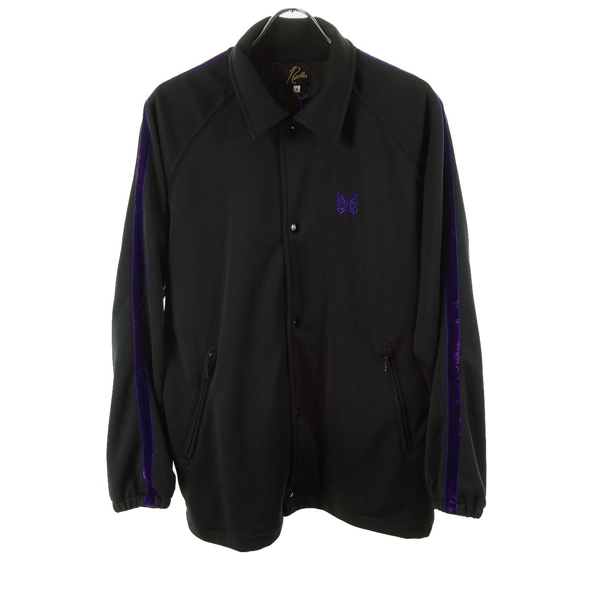【中古】Needles Side Line Coach Jacket ブラック×パープル サイズ:S 【200320】(ニードルス)