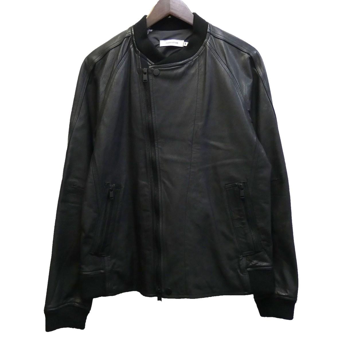 【中古】nonnative 「RIDER BLOUSON COW LEATHER」 レザージャケット NN-J3205 ブラック サイズ:1 【200320】(ノンネイティブ)