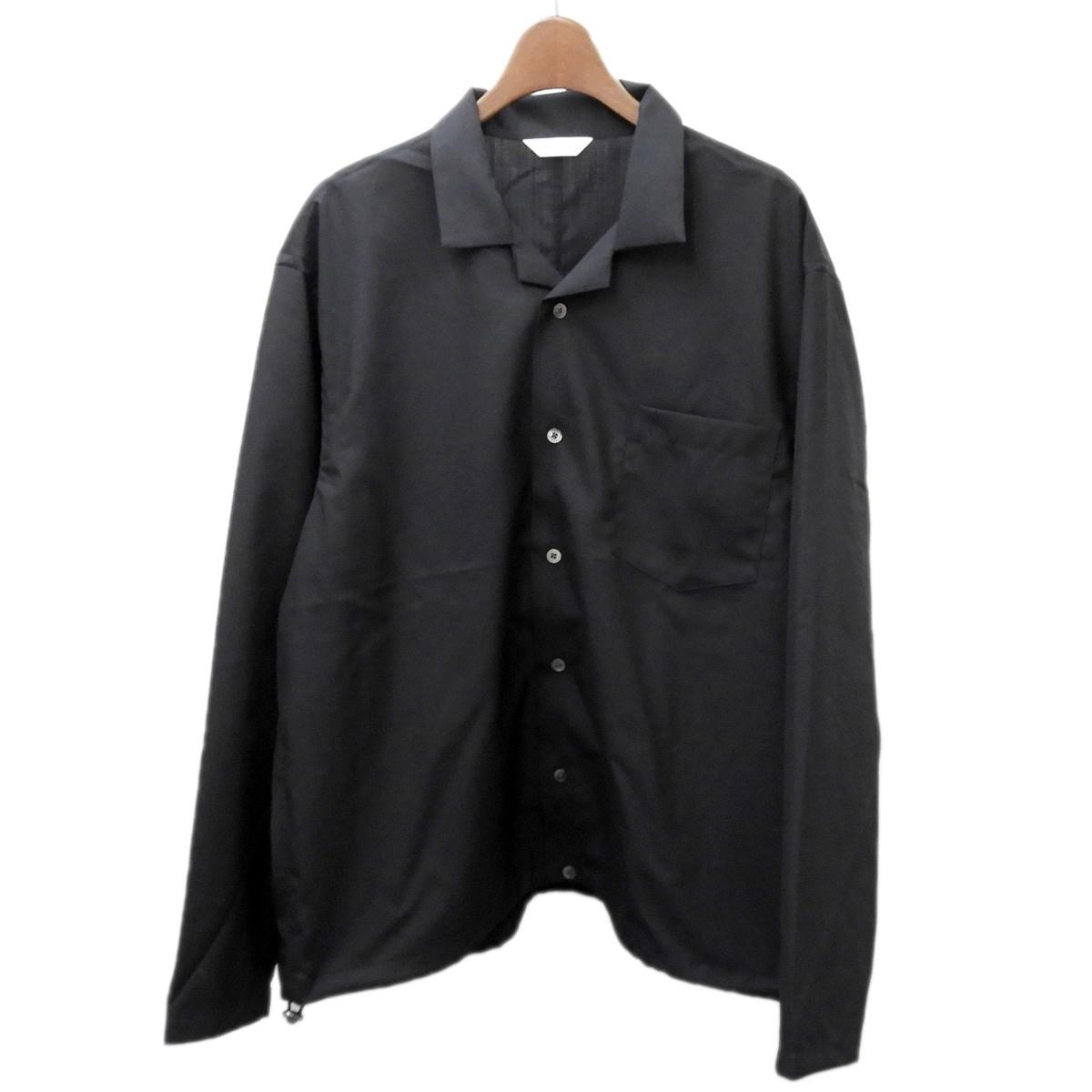 【中古】WELLDER 2020SS 「Drawstring Shirt」 ドローストリングシャツ ブラック サイズ:3 【210320】(ウェルダー)