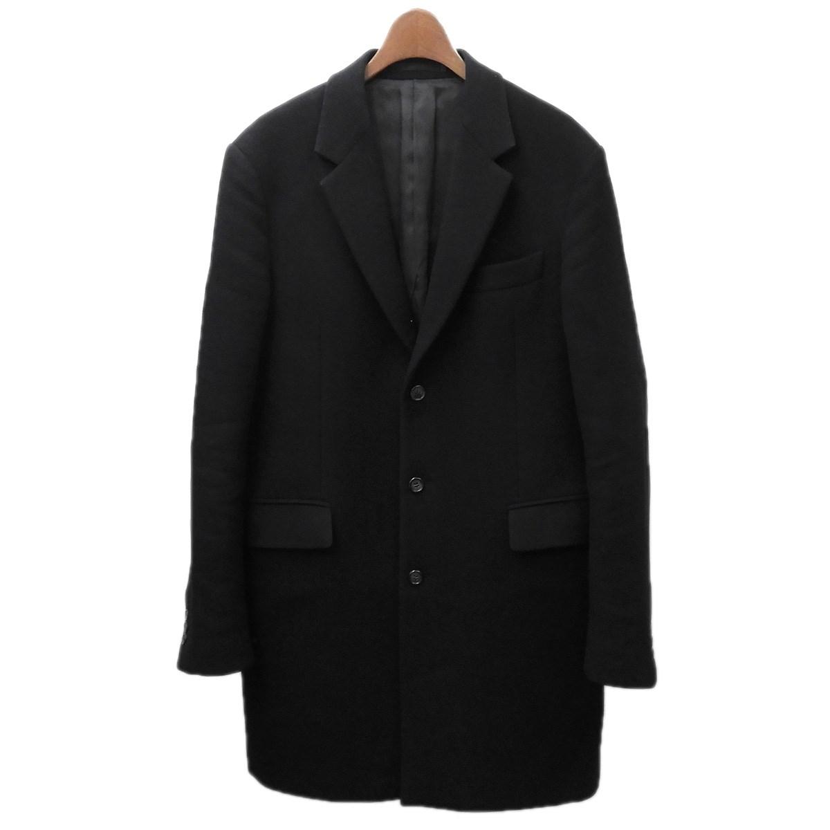 【中古】PRADA チェスターコート ブラック サイズ:48 【210320】(プラダ)