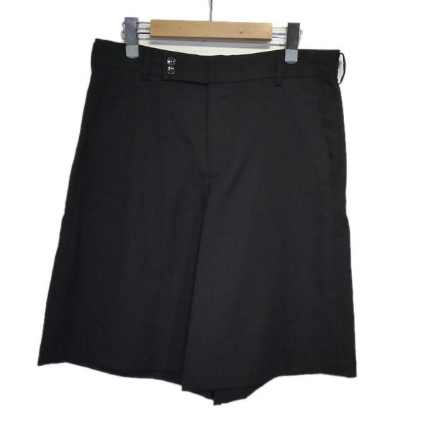 【中古】BLACK COMME des GARCONS 2013AW ウールショートパンツ ブラック サイズ:S 【210320】(ブラックコムデギャルソン)