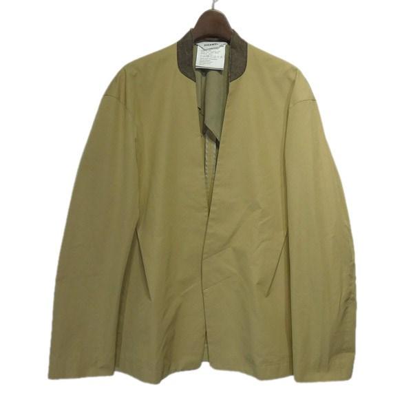 【中古】DIGAWEL ノーカラーボタンレスジャケット ベージュ サイズ:2 【210320】(ディガウェル)