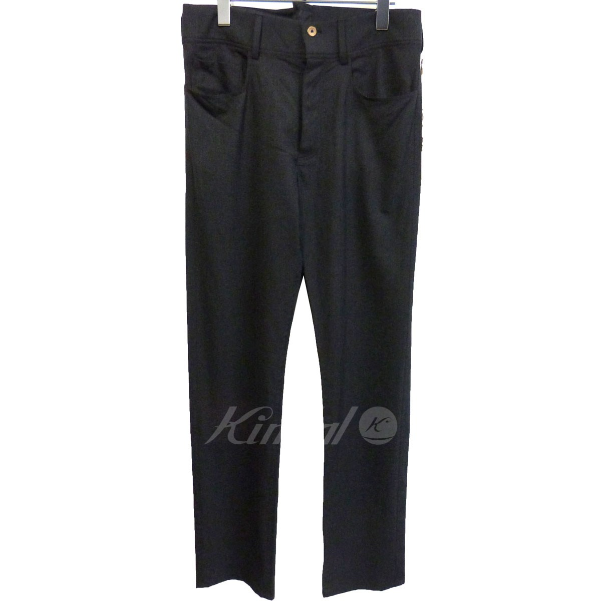 【中古】Araki Yuu シンチバックスラックスパンツ チャコールグレー サイズ:1 【210320】(アラキユウ)