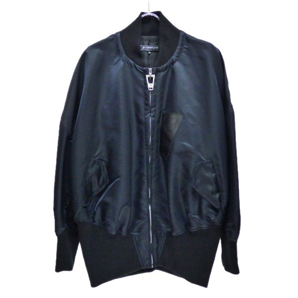 【中古】ANREALAGE 2020SS HIGH ANGLE MA-1 ミリタリージャケット ブラック サイズ:48 【210320】(アンリアレイジ)