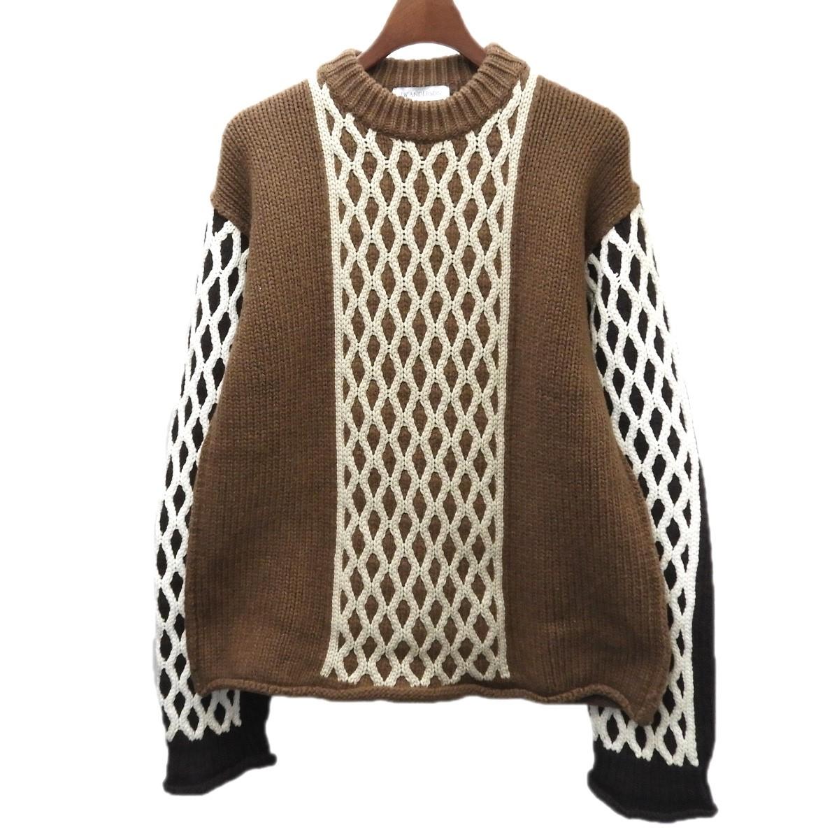 【中古】J.W.Anderson デザインニットセーター ブラウン サイズ:S 【220320】(ジョナサンウィリアムアンダーソン)