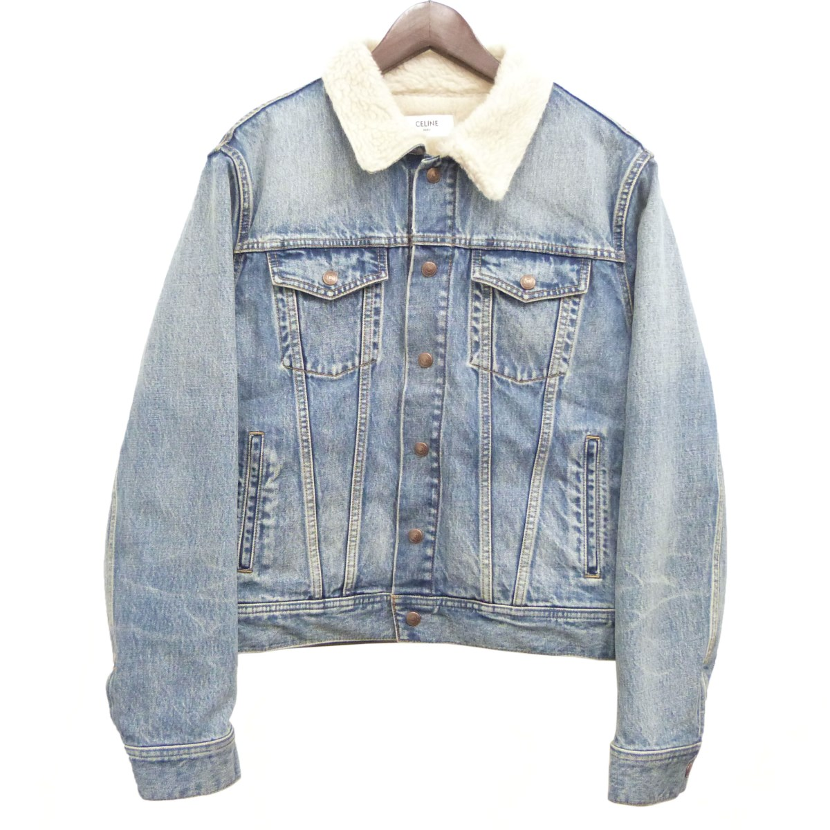 【中古】CELINE 「Classic Trucker Jacket in Denim」デニムジャケット インディゴ サイズ:S 【220320】(セリーヌ)