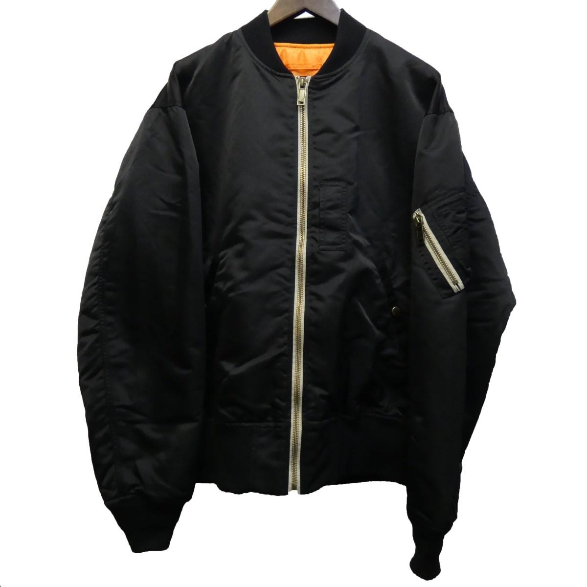 【中古】CHRISTIAN DADA 19AW バックロゴプリントMA-1ジャケット ブラック サイズ:50 【220320】(クリスチャンダダ)